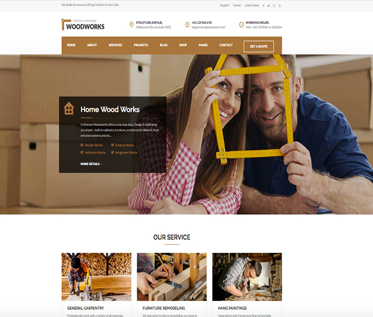 websites for carpenters
