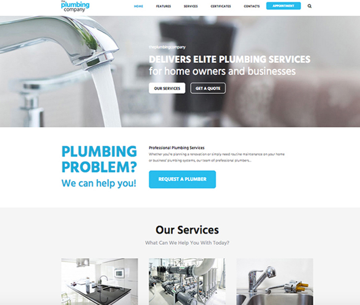 websites for plumbers