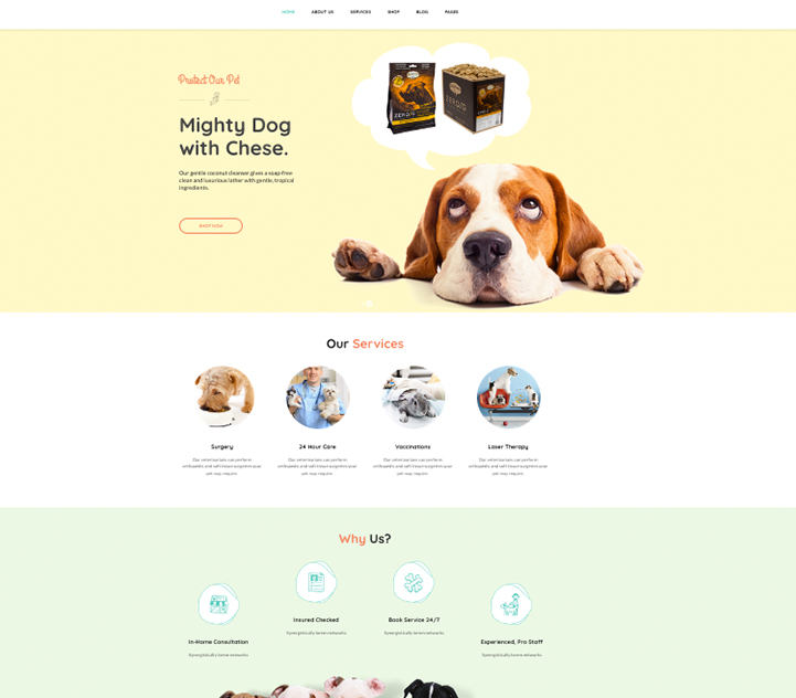 websites for veterinary and pet care